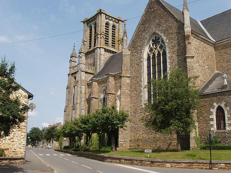 Eglise Saint-Martin d'Erbrée, façade Sud