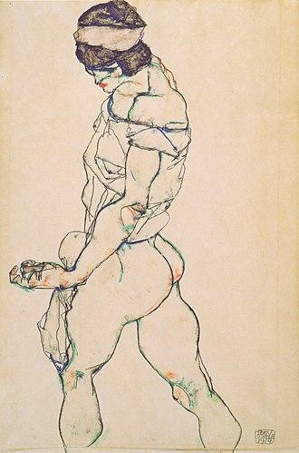 Jason Moran (musician) - Image: Egon Schiele Nach links schreitender Frauenakt 1914