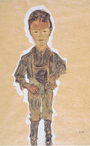 Egon Schiele - Proletarierknabe -1910