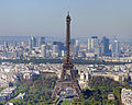 Eiffel Tower and La Défense from the Tour Montparnasse, October 2010.jpg