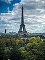 Eiffel Tower from the Cité de l'architecture et du patrimoine, 20 September 2015 001.jpg