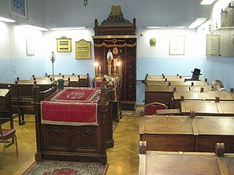 History of the Jews in Antwerp - Interior of Eisenman Synagogue