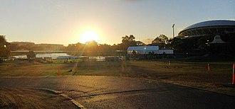 Elder Park - Elder Park at dusk