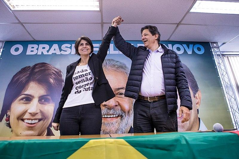 """Archivo:Eleições presidenciais brasileiras de 2018 - Chapa """"O Povo Feliz de Novo"""", com Lula, Haddad e Manuela.jpg"""