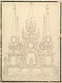 Elevation of a Catafalque- Four Large Obelisks at the Corners with Large one Surmounting the Top. MET DP820183.jpg
