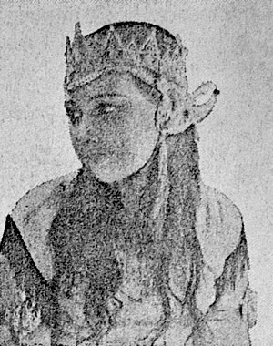 Elly Yunara - Yunara in one of the scenes from Tjioeng Wanara (1941)
