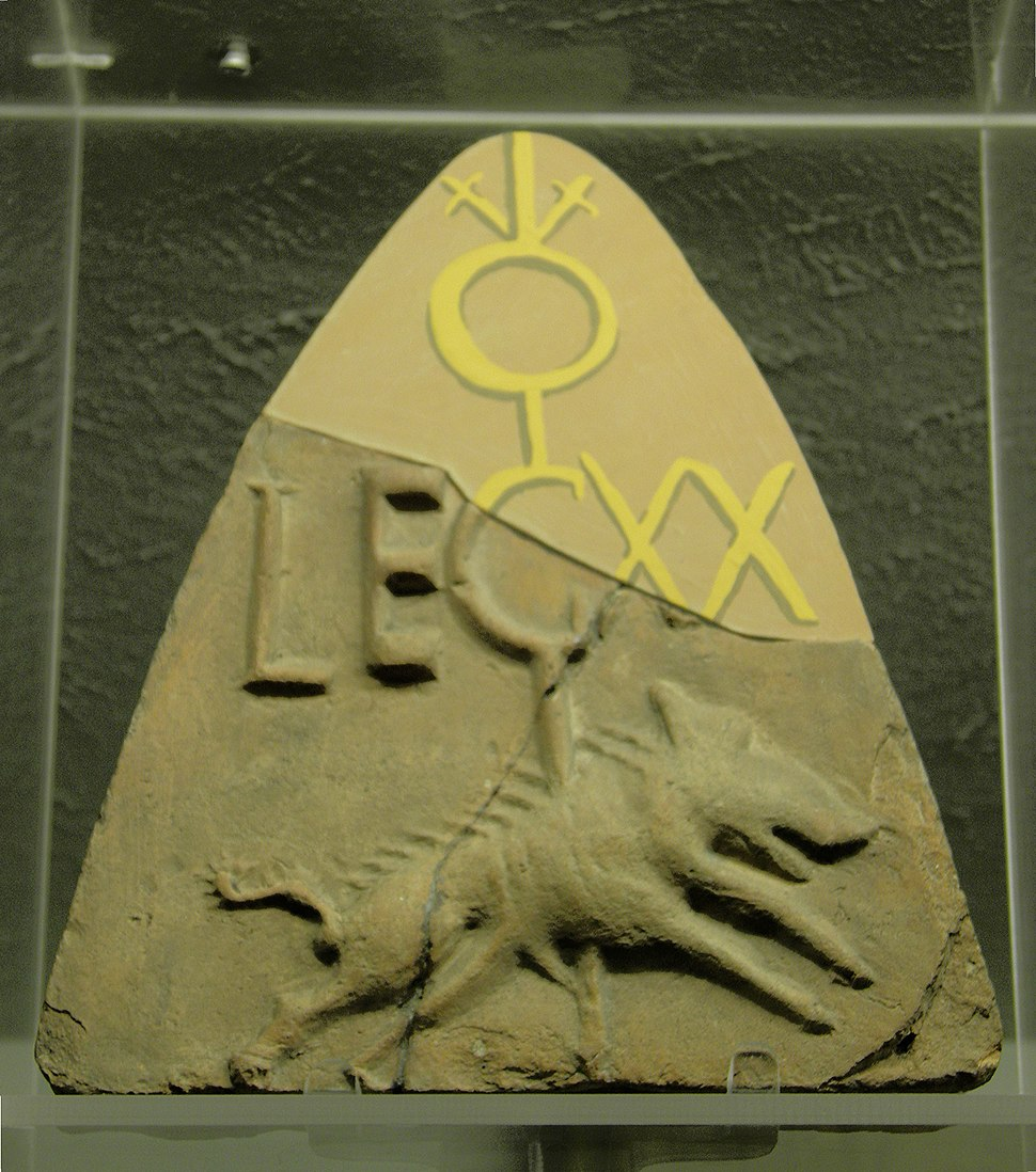 Emblem of 20th Legion Roof tile, Deva Victrix (Chester, UK), The Grosvenor Museum (8394899150)