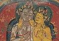 Embrace detail, Tsakalis or Initiation Card, Maitreya, 13-14th century (cropped).jpg