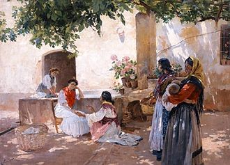 Palmistry - The Fortune Teller by Enrique Simonet (1899)