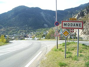 Modane - The road into Modane on the D 1006 arriving from the Col du Mont-Cenis
