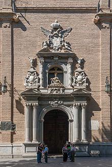 Entrance church Nuestra Senora de las Angustias, Granada, Spain.jpg