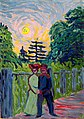 Ernst Ludwig Kirchner - Moonrise, Soldier and Maiden - 98.286 - Museum of Fine Arts, Houston.jpg