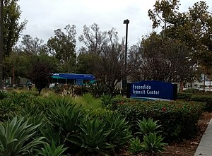 Escondido Transit Center - Monument sign for Escondido Transit Center