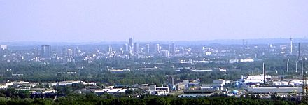 View over Central Essen from Bottrop