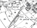 Eston railway station 1928 OS map.png