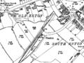 Eston railway station 1928 OS map.png