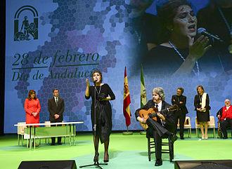 Estrella Morente - Estrella Morente singing the anthem of Andalusia in 2014