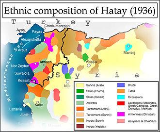 Hatay State - Ethnic composition of Hatay (1936)