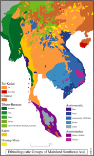 Mainland Southeast Asia linguistic area Geolinguistic region sharing areal features such as tonality
