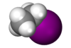 Spacefill model of ethyl iodide