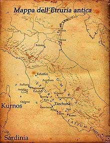 Antica mappa dell'Etruria
