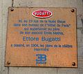 Ettore Bugatti, plaque rue de la Nuée Bleue à Strasbourg.jpg