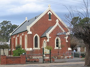 Methodist Church at Euroa, Victoria, now a fun...