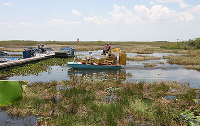 The Everglades are a popular tourist attraction