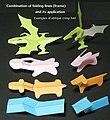 Examples of oblique crimp fold kiriorigami works.jpg