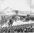 Execução de Joaquim José da Silva Xavier - o Tiradentes, no dia 21 de Abril de 1792 (Reconstrucção historica feita sob apontamentos do Sr. Barão Homem de Mello).jpg