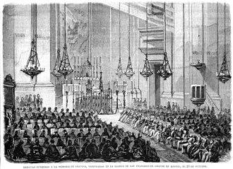 Federico Gravina - Memorial service in remembrance of Gravina at the Basilica of San Francisco el Grande, 1870