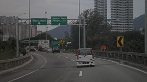 Batu Uban - The Penang Bridge exit bypass within Batu Uban