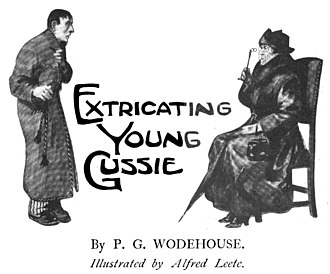 "Extricating Young Gussie - Illustration by Alfred Leete for ""Extricating Young Gussie"""
