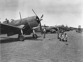 VMA-124 - VMF-124 Corsairs on Guadalcanal.