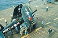 F4U-4 Corsair of VF-871 aboard USS Essex (CV-9) off Korea in 1952.jpg