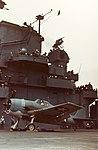 F6F-3 Hellcat of VF-1 warms up on USS Yorktown (CV-10) in the spring of 1943.jpg