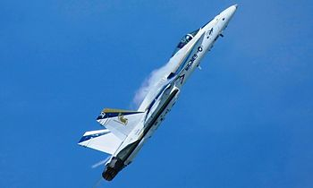English: US Navy F/A-18C Hornet Fighter Aircra...
