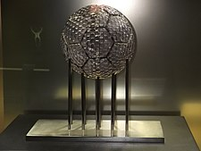FIFA Club of the Century trophy, exhibited at the Real Madrid Museum. FIFA Club of the Century002.JPG