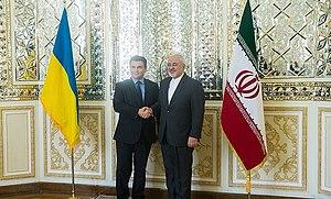 Pavlo Klimkin - Klimkin meeting Iranian foreign minister Mohammad Javad Zarif, 28 May 2016