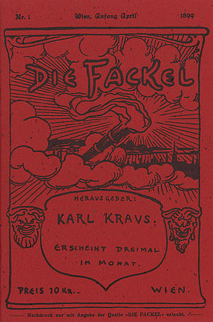 Karl Kraus (writer) - First issue of Die Fackel