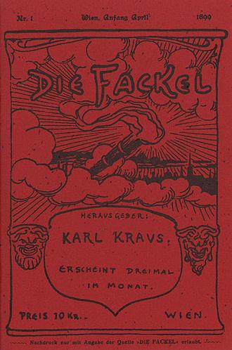 Karl Kraus (writer) - First issue of Die Fackel