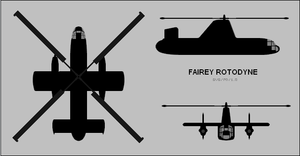 Fairey Rotodyne 3-view