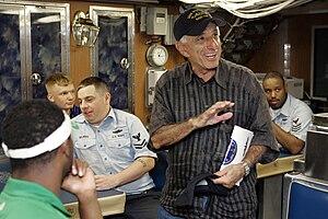 USS Norfolk (SSN-714) - Actor Jamie Farr aboard USS Norfolk in 2007.