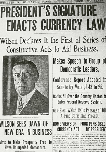 Feds Announce New Idea Regulations >> History Of The Federal Reserve System Wikipedia
