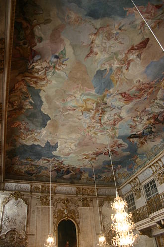 Ansbach Residence - Festsaal, painting by Carlo Carlone