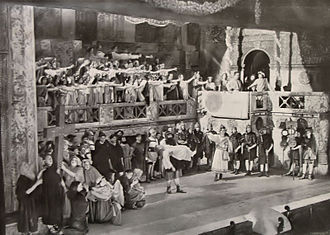 Erkel Theatre - The final moments of the premiere in 1911