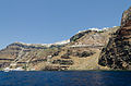 Fira and crater rim seen from the caldera - Santorini - Greece - 01.jpg