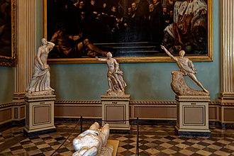 Niobids - Image: Firenze Florence Galleria degli Uffizi Sala della Niobe 1782 View East