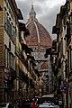 Firenze - Florence - Piazza della Santissima Annunziata - View SW through Via dei Servi towards il Duomo.jpg