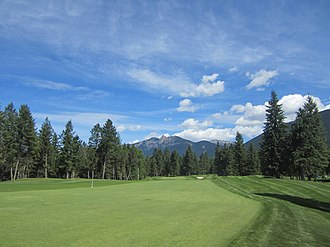 Golf course - Fairway and rough, Spur Valley Golf Course, Radium Hot Springs, Canada